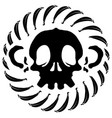monkey skull stencil vector image vector image