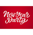 new year party - hand drawn brush pen vector image vector image