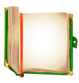 old book bookmark vector image vector image