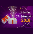 open gift box with merry christmas text vector image vector image