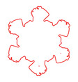 outline grunge snowflake vector image vector image