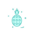 pineapple icon design vector image