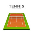 realistic tennis ball at playground 3d icon vector image vector image