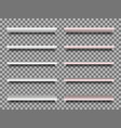 realistic white and marble shelfs isolated vector image