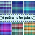 repeating argyle patterns in soft browns vector image
