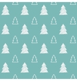 Seamless christmas tree pattern vector image vector image