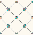 seamless geometric pattern with colored vector image vector image