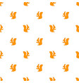 seamless pattern squirrel vector image