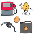 set of gas and fuel vector image