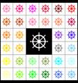 ship wheel sign felt-pen 33 colorful vector image vector image