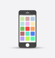 smartphone icon on white background telephone in vector image