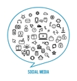 Social media icons isolated on white background vector image vector image