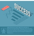 success graph business background concept d vector image vector image