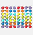 sunglasses icon glasses set with rainbow lenses vector image