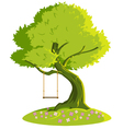 swing on a tree vector image vector image