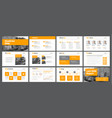 template of white slides for presentations and vector image