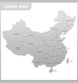 the detailed map of the china with regions or vector image vector image
