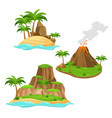 three different islands on vector image
