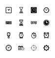 time - flat icons vector image