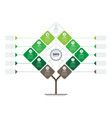 timeline or infographics tree development and vector image vector image