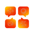 weather sun and wind icons vector image vector image