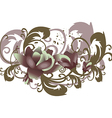 roses leaves horizontal flowers with branches vector image