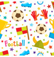 cartoon football seamless pattern soccer vector image