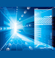 3d tech background vector image vector image