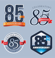 85 Years Anniversary Logo vector image vector image
