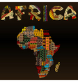 Africa map with African typography made of vector image vector image