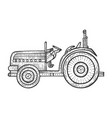agricultural tractor sketch engraving vector image