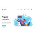 airport check-in airport terminal landing page vector image