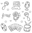 art music object various doodles vector image vector image