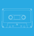 audio tape cassette on cyan background vector image vector image