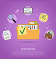 auditing and business accounting concept vector image vector image