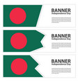 bangladesh flag banners collection independence vector image vector image