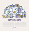 bathroom equipment concept in half circle vector image vector image
