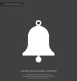 bell premium icon white on dark background vector image vector image