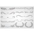 Big set of elegant calligraphic foliate borders vector image vector image