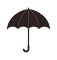 black umbrella icon with handle isolated on white vector image