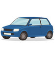 blue car isolated on white background small vector image vector image