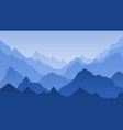 blue mountain landscape mountains misty vector image