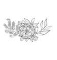 bouquet element of design vector image vector image