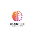 brain technology logo design vector image vector image