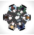 Business meeting top view vector image