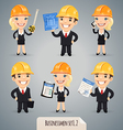businessmen in helmet set1 2 vector image vector image