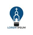 church logo design vector image vector image