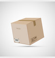 closed cardboard box isolated on a white vector image vector image