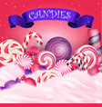 colorful candy background vector image vector image