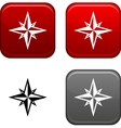 Compass button vector
